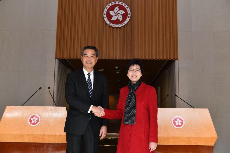 CY Leung Chun-ying carrie lam