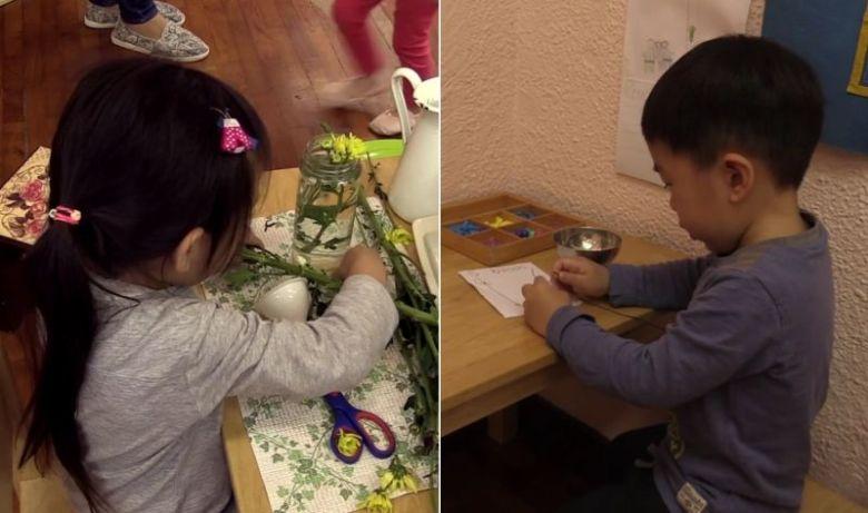 Alternative education Montessori kindergarten children child kids