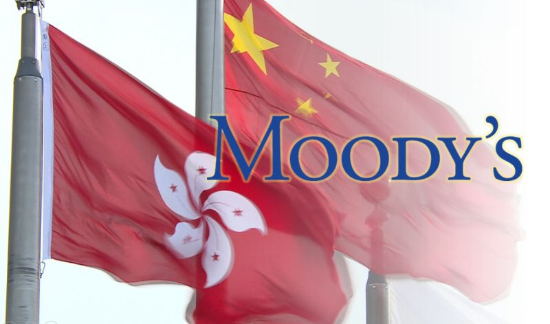 Moody's China Hong Kong Credit Rating Flag