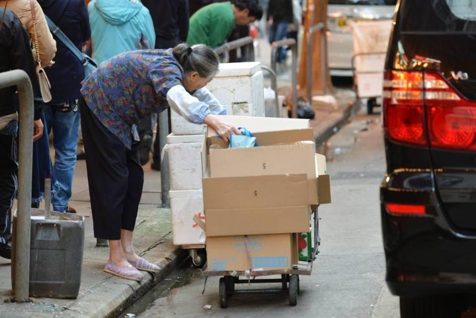 cardboard elderly