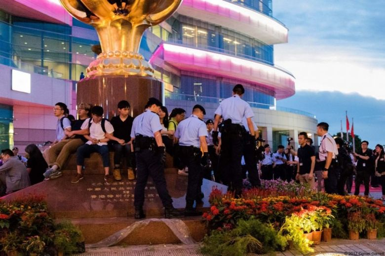 Bauhinia square wanchai protest handover arrests