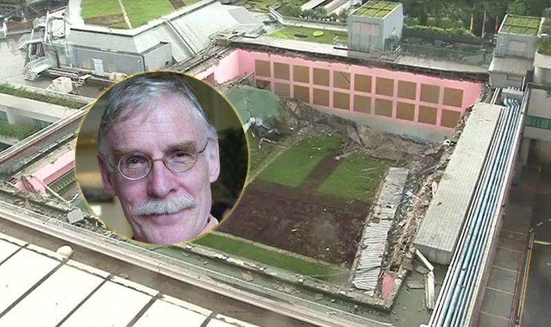 tim hamlett City University collapsed rooftop roof city u
