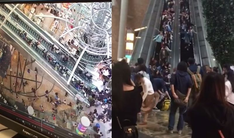 Langham place escalator accident