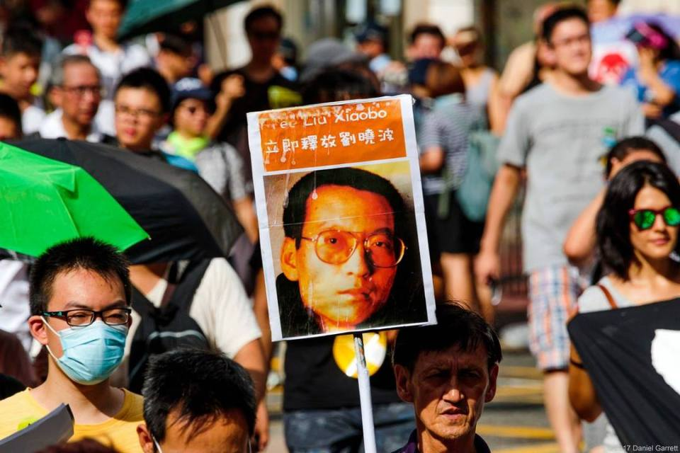 liu xiaobo protest rally demonstration