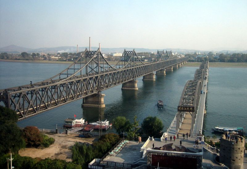 north korea bridge