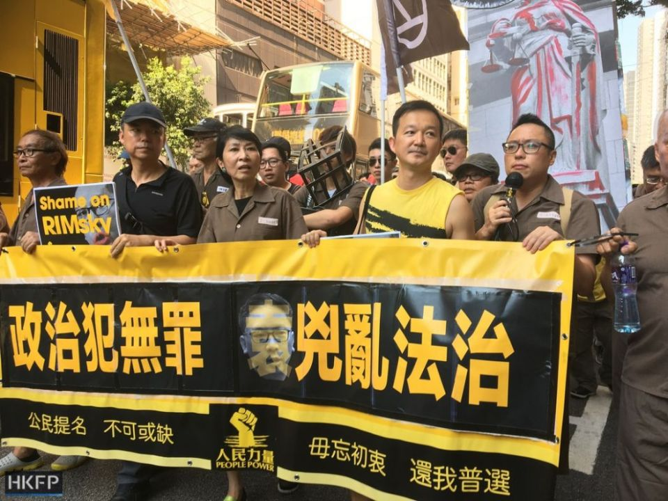 claudia mo ray chan tam tak-chi political prisoner occupy activist protest rally democracy