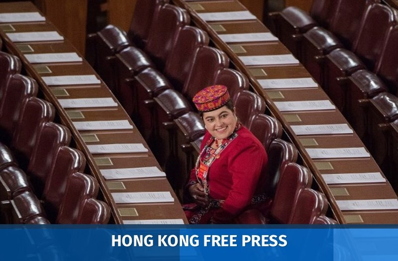 delegate wearing an ethnic minority outfit