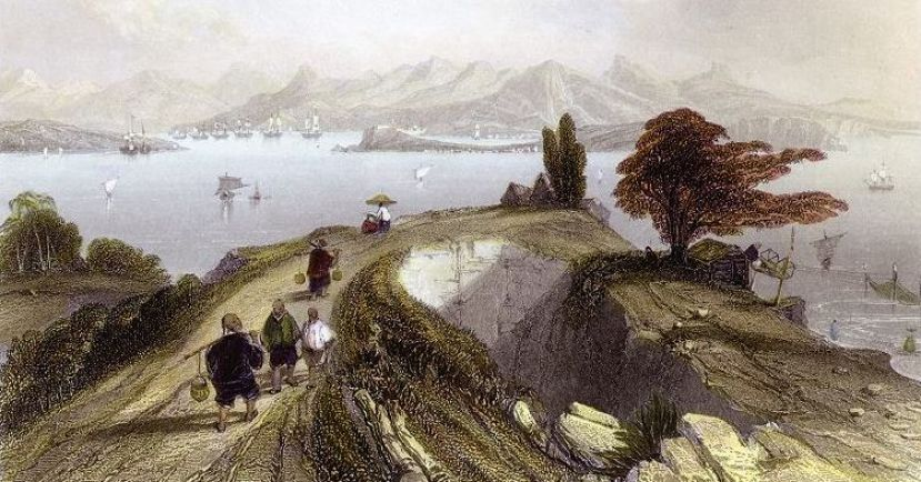 Hong Kong in the 1840s.