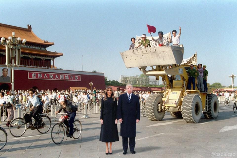 donald Trump in Beijing 1989 Tiananmen massacre