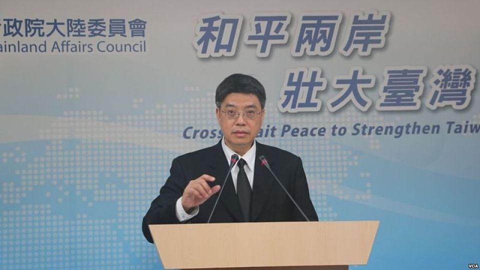 Taiwan'sMainland Affairs Council Deputy Minister Chiu Chui-cheng