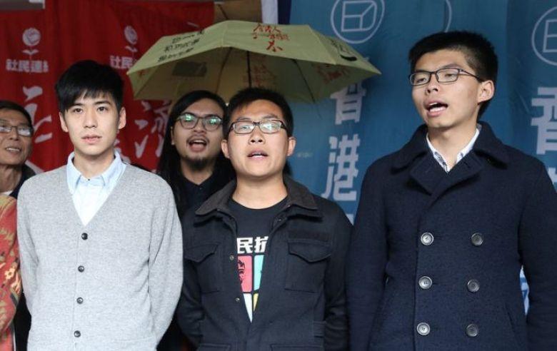 Lester Shum, Raphael Wong and Joshua Wong