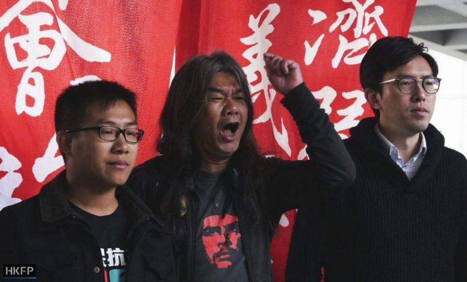 Raphael Wong, Leung Kwok-hung and Avery Ng