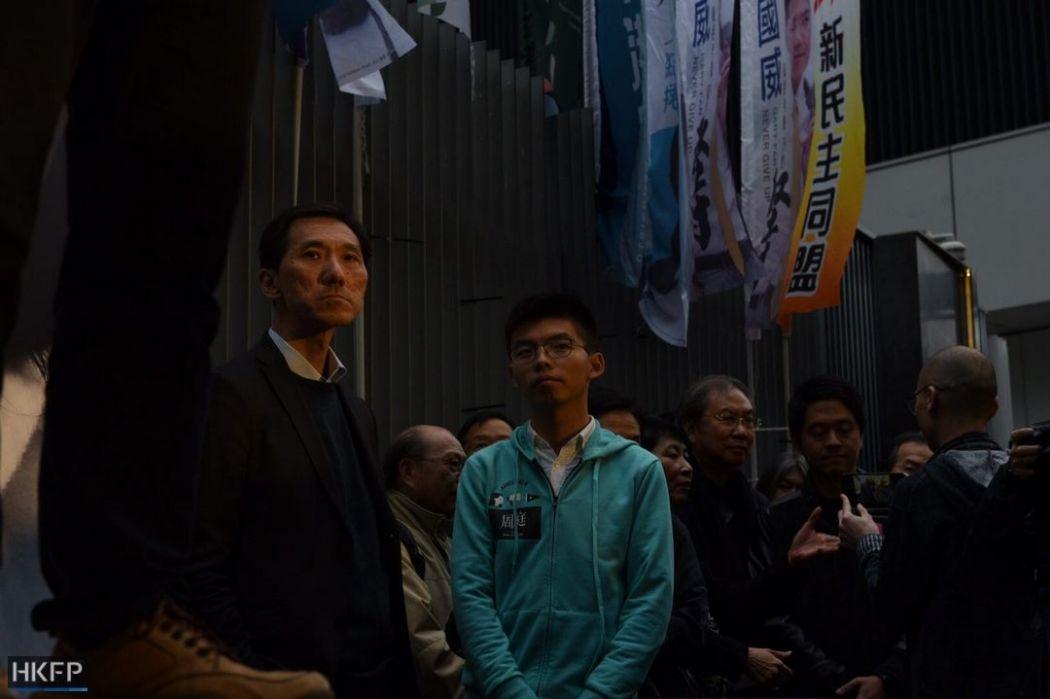 Edward Yiu and Joshua Wong