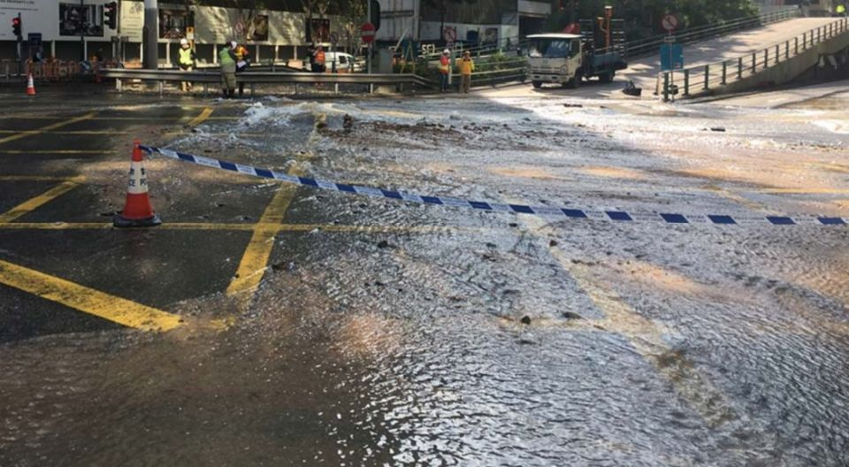 water main leak