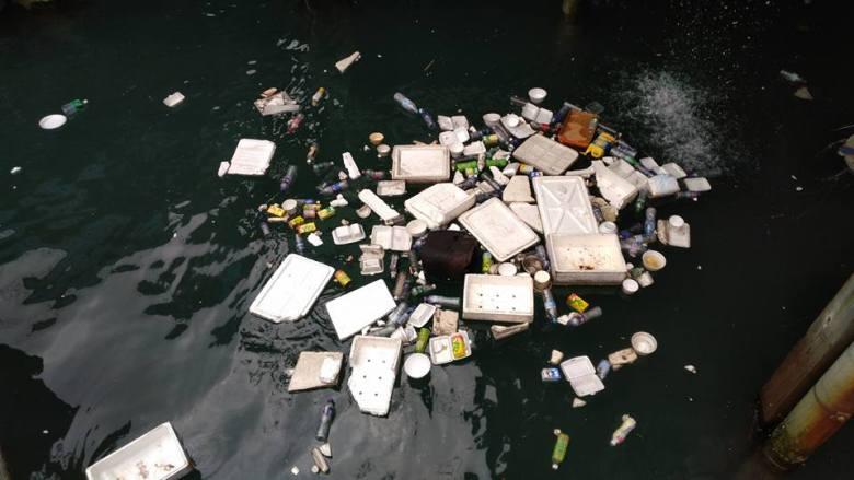 Aberdeen harbour trash