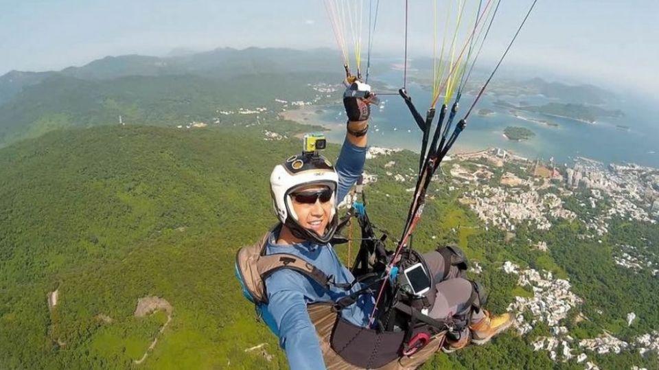 Patrick Chung Yuk-wa paraglider