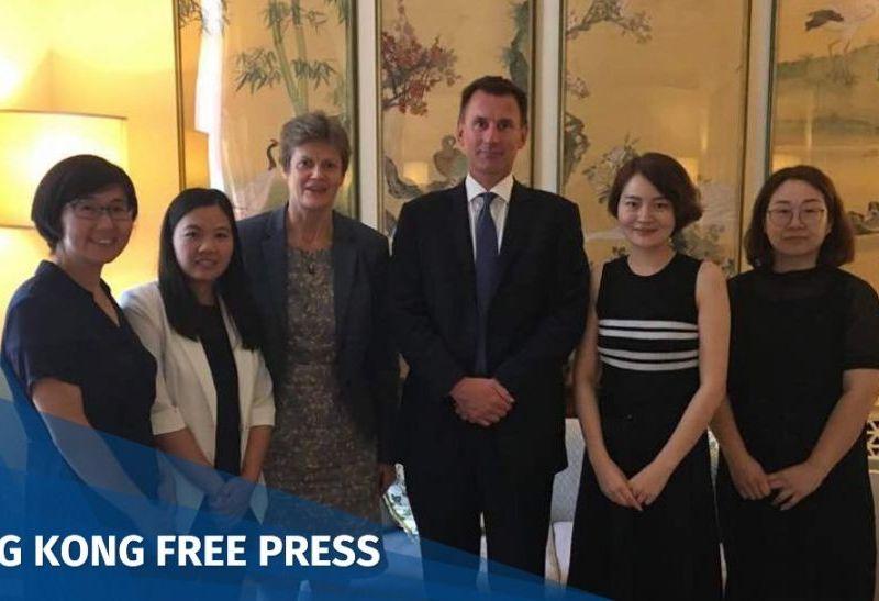 Wang Yu Xu Yan Barbara Woodward Jeremy Hunt Li Wenzu Wang Qiaoling
