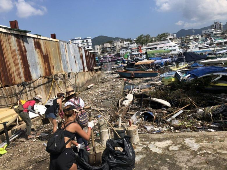 super typhoon Mangkhut clean up