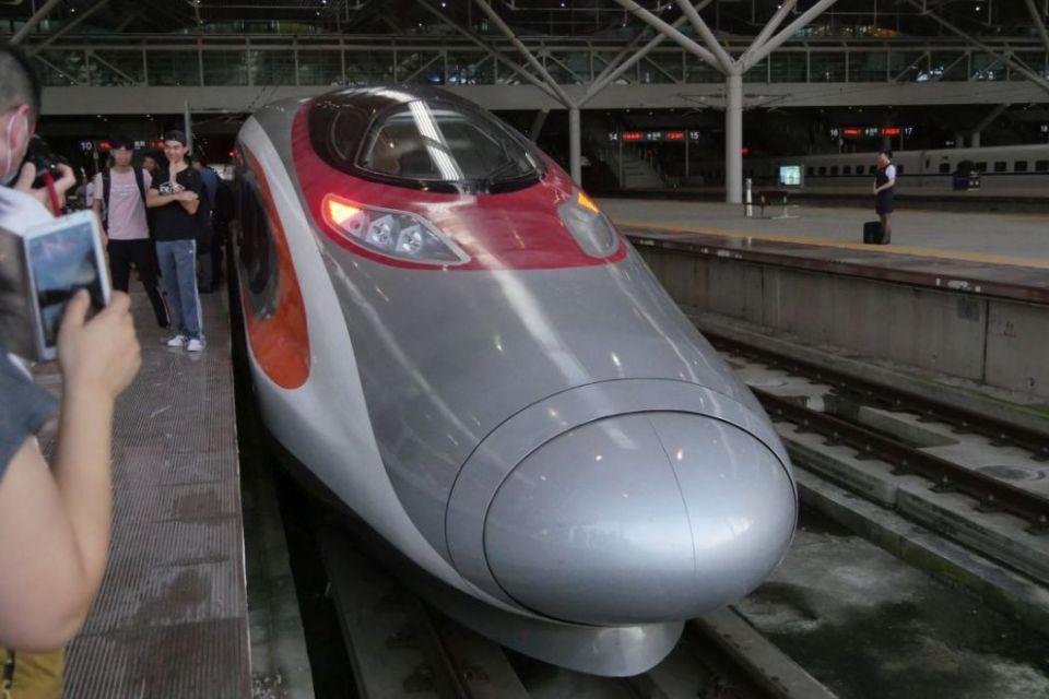 XRL first train shenzhen