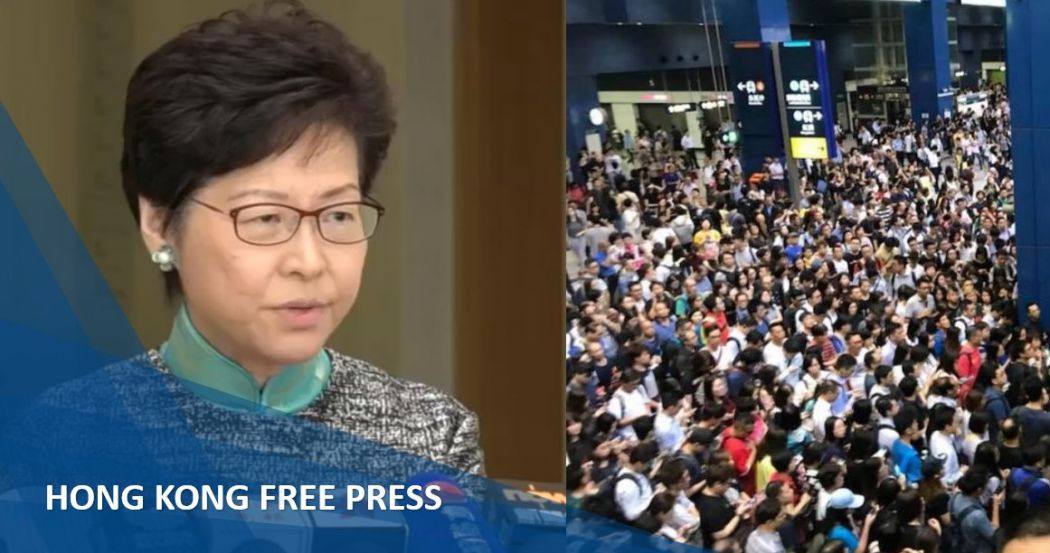 Carrie Lam day off mangkhut feature image