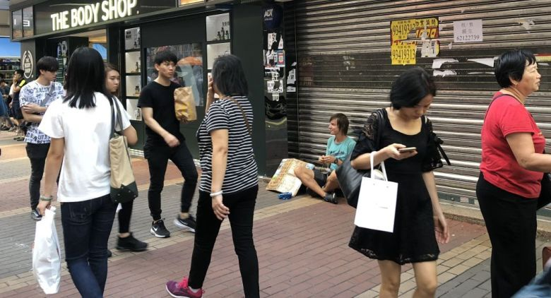 Begpackers travel beggars hong kong