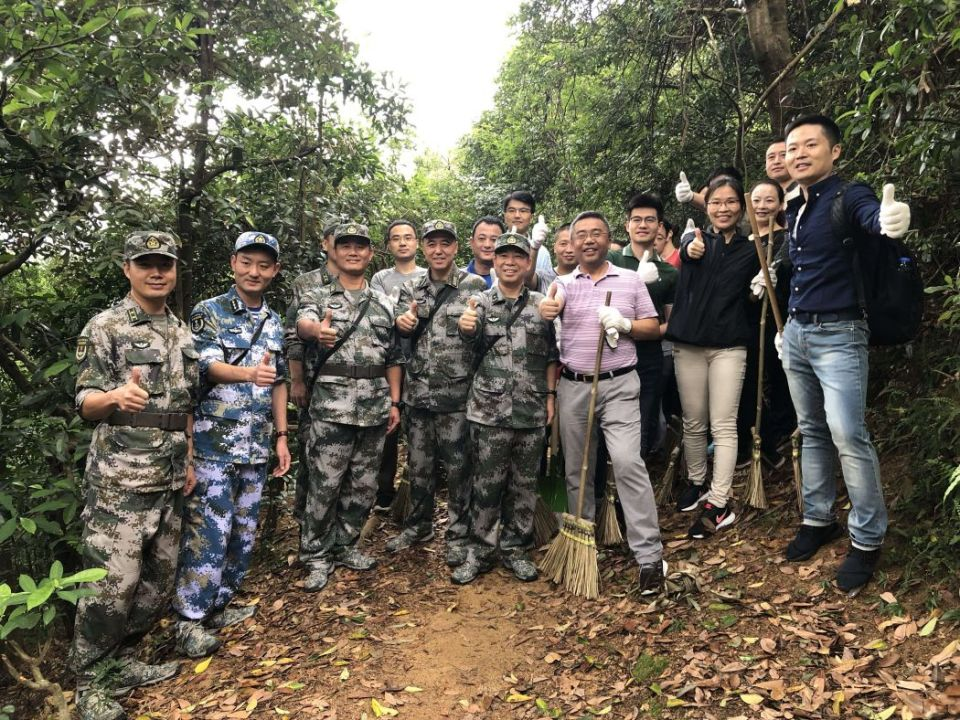 PLA People's Liberation Army clean-up mangkhut