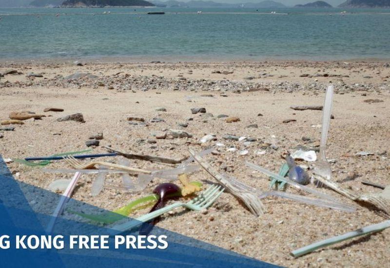 Plastic utensils beach Hong Kong