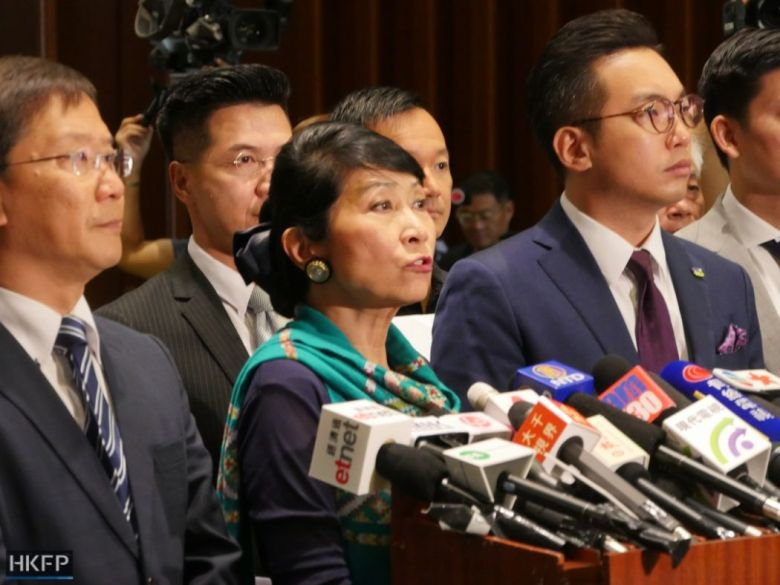 Claudia Mo pro-democracy lawmakers kicked out policy address