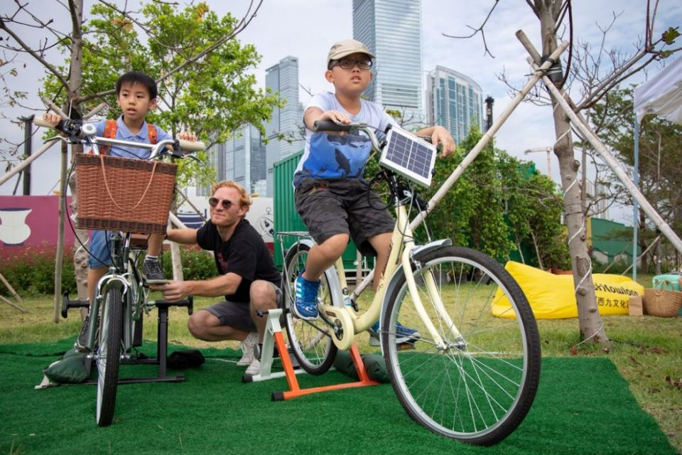Solar power DJ west kowloon