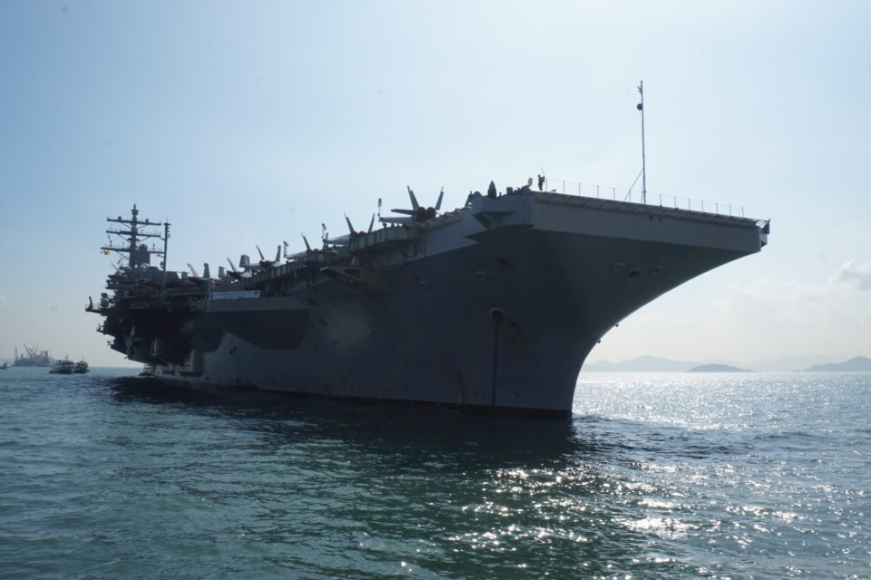 USS Ronald Reagan aircraft carrier