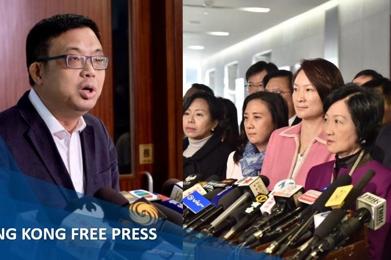 James to pro-beijing lawmakers