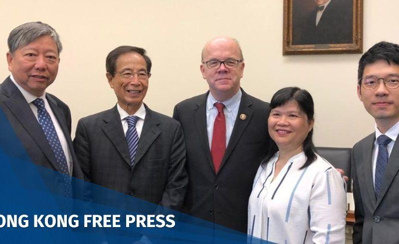 Lee Cheuk-yan, Martin Lee, James McGovern, Mak Yin-ting, and Nathan Law