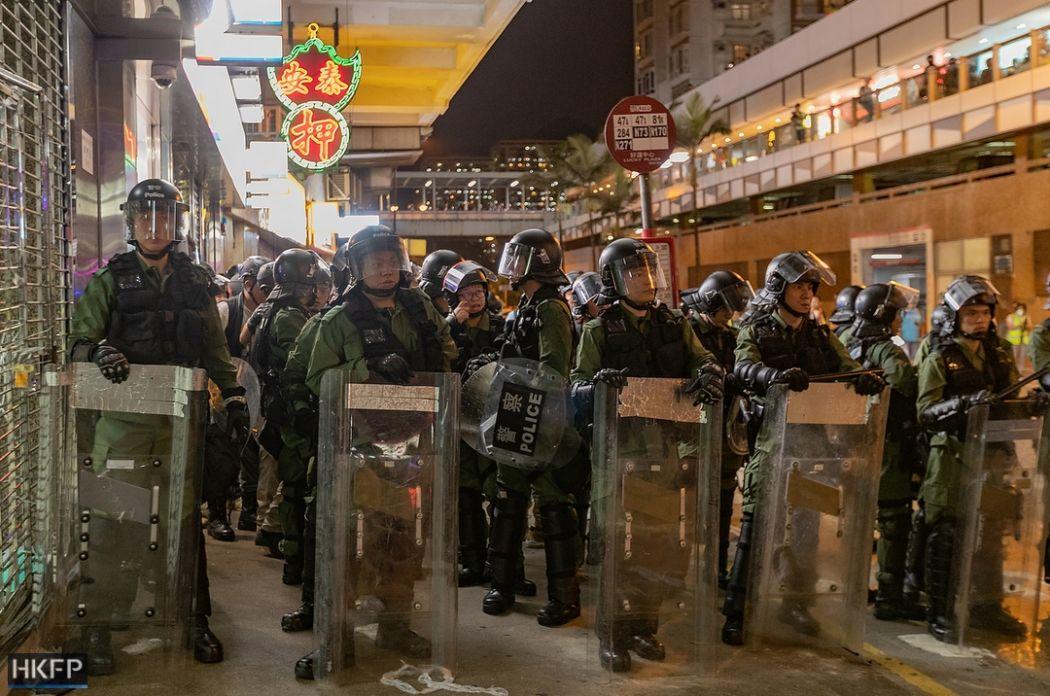riot police 14 july sha tin china extradition