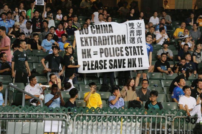 hong kong football kitchee protest