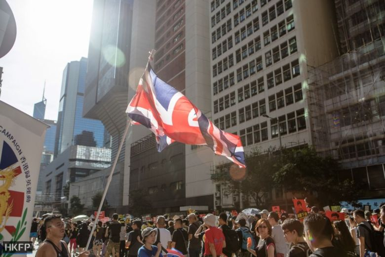 (Isaac Yee) July 1 Legco Protest extradition (19) (Copy) march british flag