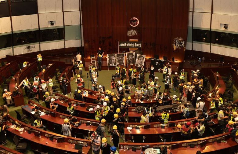 legco storming Monday July 1