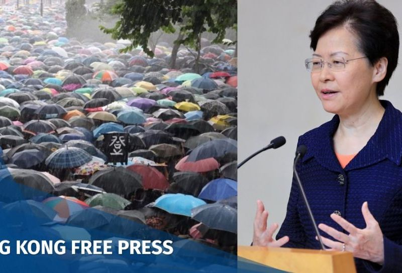 carrie lam china extradition protest march