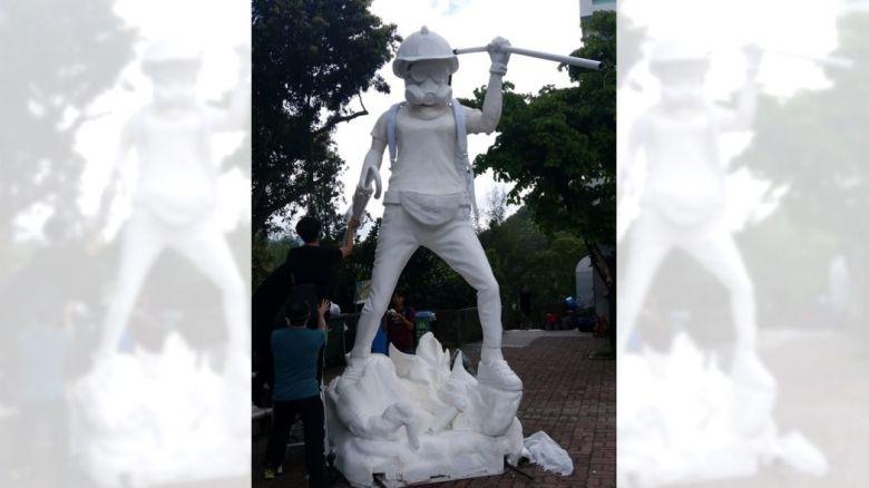 Statue of democracy CUHK campus