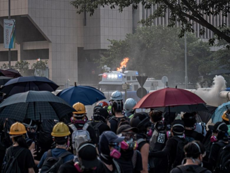september 15 China extradition water cannon truck admiralty fire