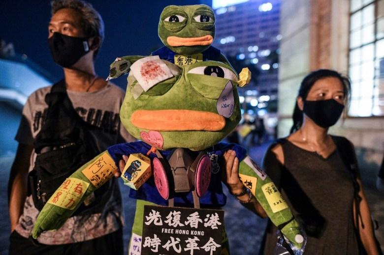 Pepe the frog Hong Kong protest symbol