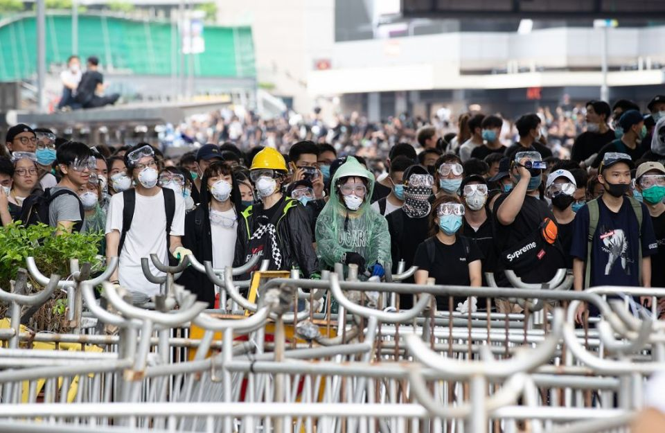 china extradition protest mask