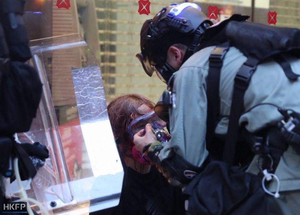 police arrest october 6 hong kong island