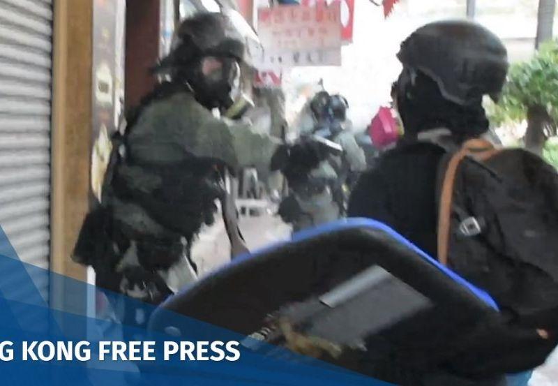October 1 protest shot police