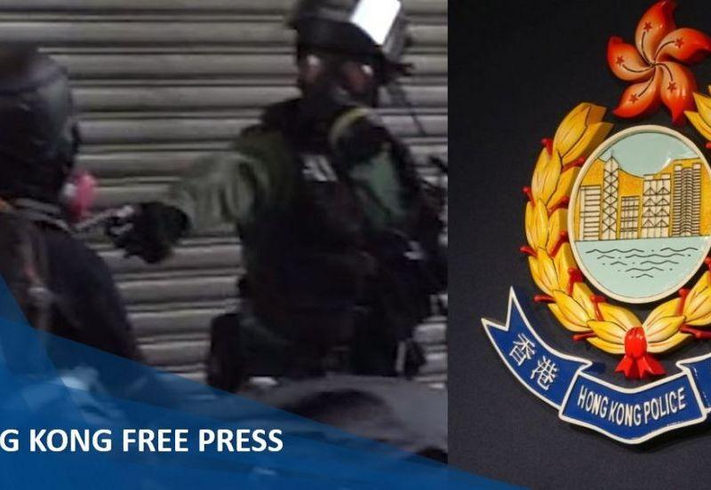 police fire gun protester live ammunition