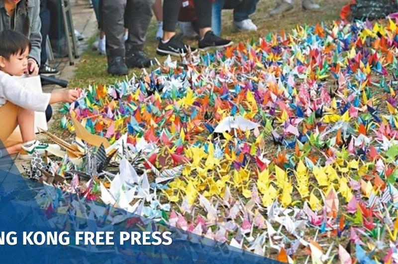 paper crane kwun tong protest oct 28