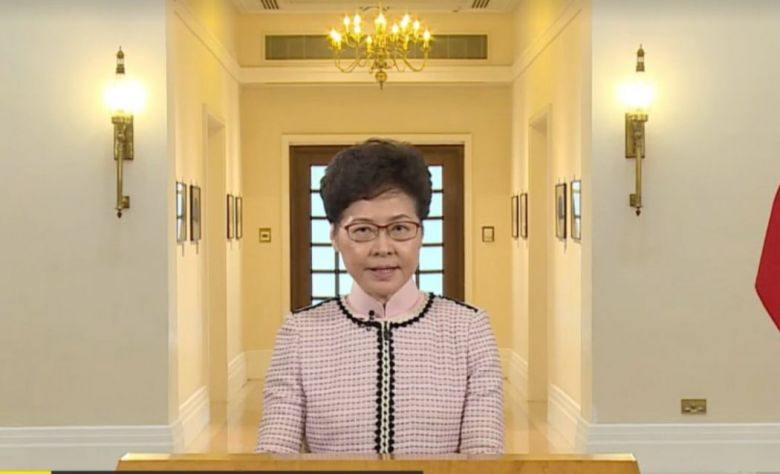 October 16 Chief Executive Carrie Lam 2019 Policy Address televised