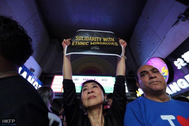 Claudia Mo solidarity with ethnic minorities October 20 protest Tsim Sha Tsui