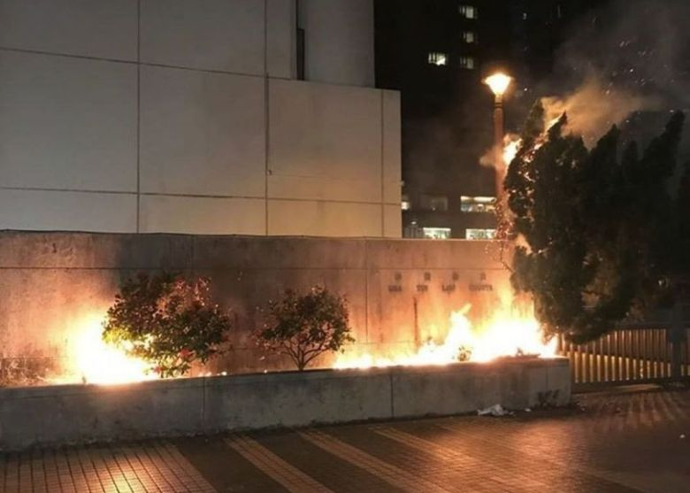shatin law courts building arson