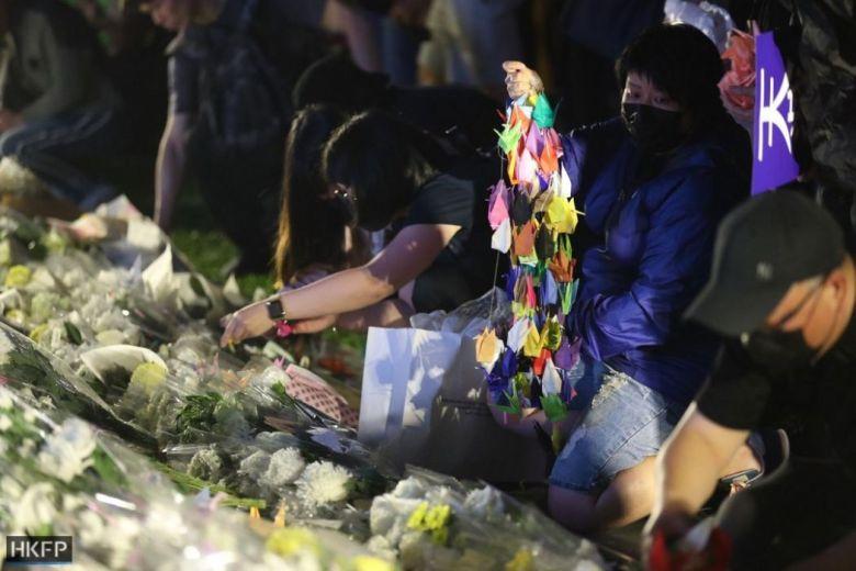 "Origami cranes ""November 9"" rally Tamar Park Alex Chow protest pro-democracy Admiralty"
