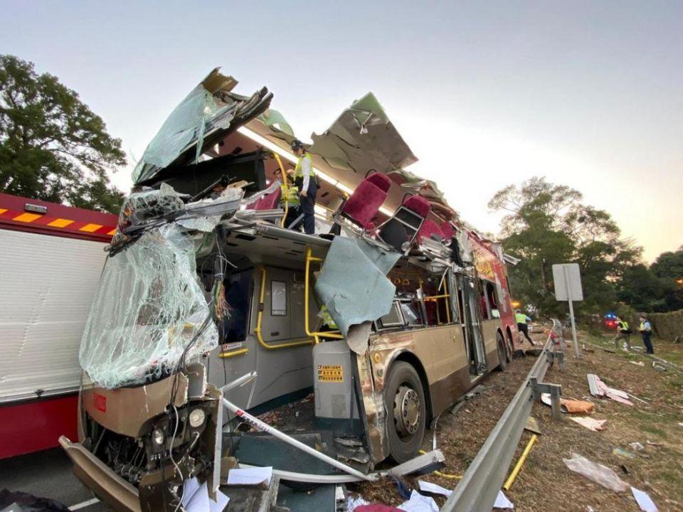 kwu tung bus crash sheung shui